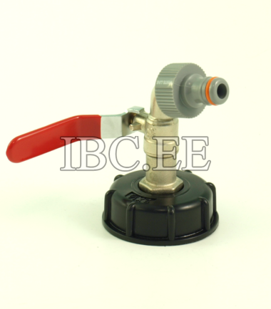"""Adapter for IBC container 2"""" with valve 1/2"""" for Pipe Tap garden"""