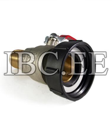 """Adapter 3""""S100X8 (100mm) female to 2"""" BSP/NPT female valve 2"""" MFPN40 Nikkel hose 50mm"""