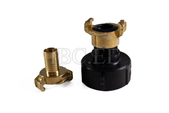 Adapter IBC - Geka coupling S60X6 female 1' 'M nikkel Geka hose brass 20 mm