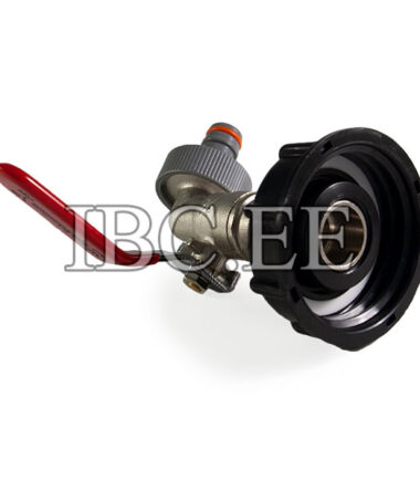 """Adapter for IBC container 2"""" with valve 3⁄4'' for Pipe Tap garden"""