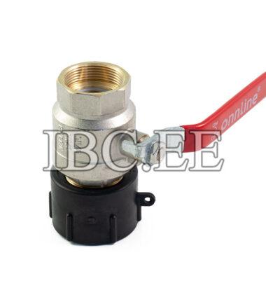 """Adapter S60X6 female 2"""" valve MF DN50 PN40 Nikkel Thread BSP/NPT 2"""" male"""