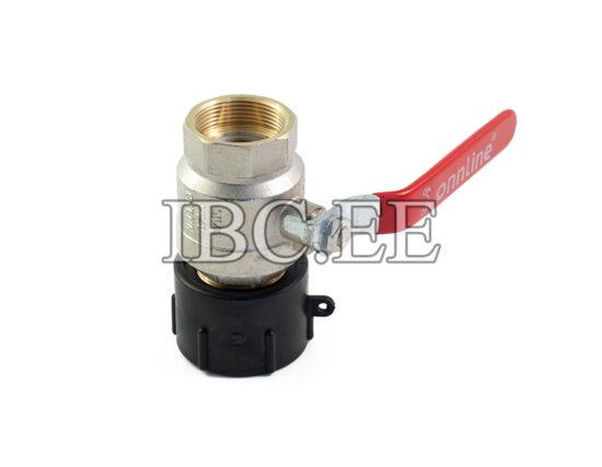S60X6 female 2'' valve MF DN40 PN40 nikkel thread 1 1/2 female