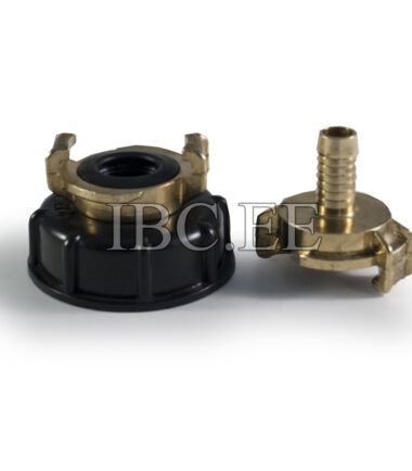 Adapter IBC - Geka coupling S60X6 female 3/4'' nikkel Geka hose brass 13 mm