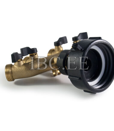 IBC connector S60X6 4 Way Tap Connectors 3/4'' thread male for Irrigation System Garden brass