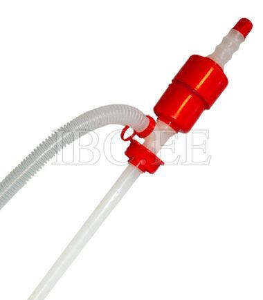 Liquid Fuel Transfer Plastic Siphon Pump. Capacity: 13-15 l/min. Applications: Chemicals, petroleum based fluids, water